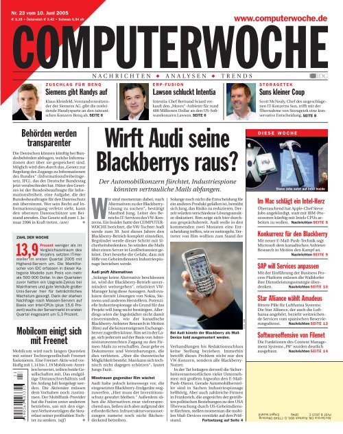 Wirft Audi seine Blackberrys raus?