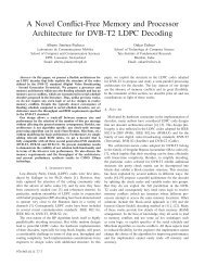 A Novel Conflict-Free Memory and Processor Architecture for DVB ...