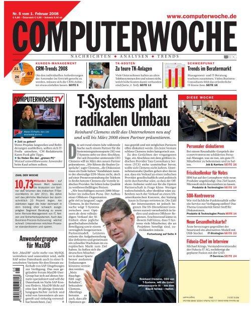 T-Systems plant radikalen Umbau