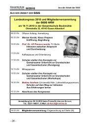 Mitgliederversammlung und Landeskongress am 18.11.2010 in Essen
