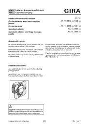 Instabus Automatic-schakelaar Gebruiksaanwijzing - Gira