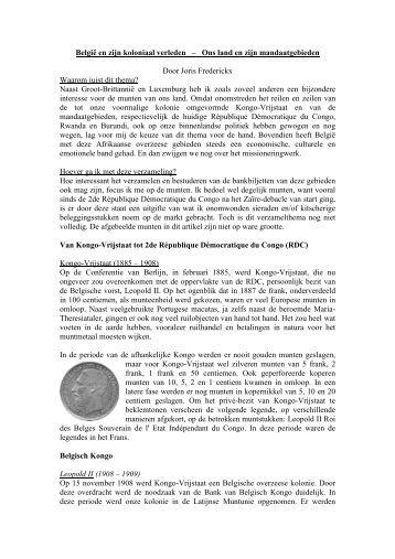 Munten van Belgisch Kongo - Numismatica Herentals