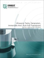 Ultrasonic Tanks, Generators, Immersible And Push Pull Transducers