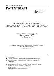 Alphabetisches Verzeichnis der Anmelder, Patentinhaber und ...