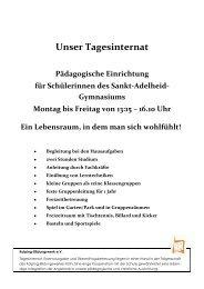 Tagesinternat - Sankt-Adelheid-Gymnasiums Bonn
