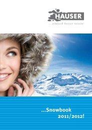 ...Snowbook 2011/2012! - HAUSER