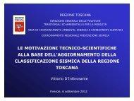 Dott. Vittorio D'Intinosante - Regione Toscana