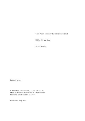 The Paint Factory Reference Manual - Systems Engineering