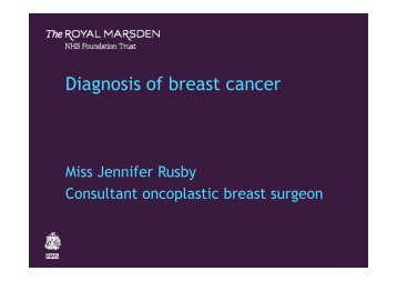 Jennifer Rusby - Royal Marsden Hospital