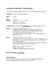 Invitasjon til NC5 2013 – Kristiansand - nmsbf