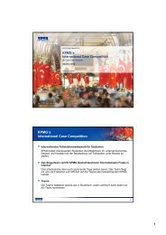 1 KPMG´s International Case Competition - des Lehrstuhls