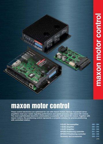 maxon motor control - Intex Connect