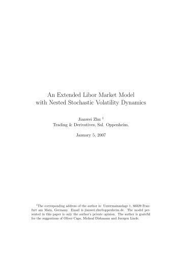 libor market model thesis Libor market mode - theory and practice - irina götsch - diploma thesis - economics - monetary theory and policy - publish your bachelor's or master's thesis.