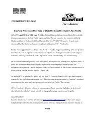 Crawford Announces New Head of Global Technical Services