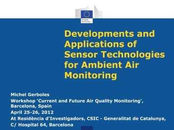 Developments and Applications of Sensor Technologies - AirMonTech