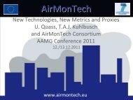 AirMonTech Kick-Off Meeting December 13, 2010