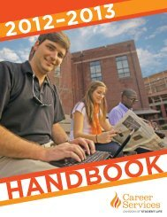 2013 Career Services Handbook - The University of Tennessee ...