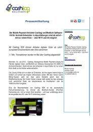 Der Mobile Payment-Anbieter Cashlog veröffentlicht Software-Kit für ...