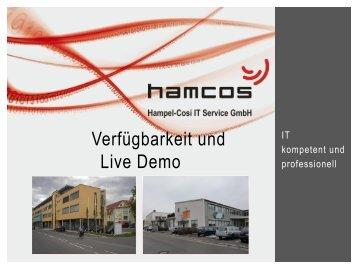 Verfügbarkeit und Live Demo - Hampel-CoSi IT Service GmbH