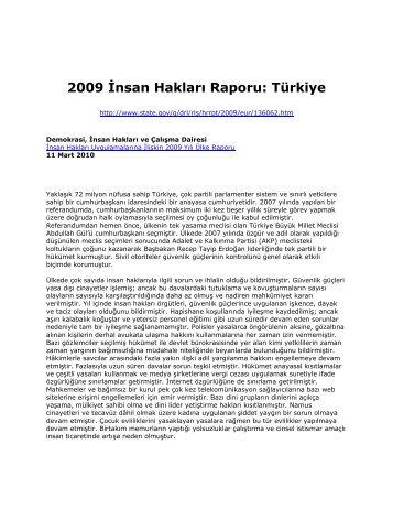 2009 İnsan Hakları Raporu: Türkiye - A.B.D. Büyükelçiliği, Ankara