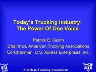Patrick E. Quinn, Co-Chairman of U.S. Xpress Enterprises, Inc.