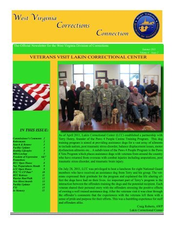 Corrections Connection Summer 2011 - West Virginia Division of ...