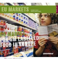 No Market for GM-labelled Food in Europe - GM-Free Ireland