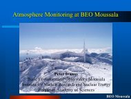 Atmosphere monitoring at BEO Moussala