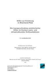 Hilfen zur Erziehung in Rheinland-Pfalz Die Inanspruchnahme ...