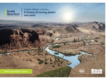 Israel's Water Industry A history of turning desert into ... - Invest in Israel