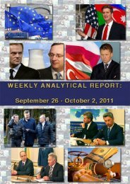 Weekly analytical report: September 26 – October 2, 2011