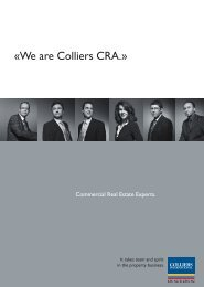 «We are Colliers CRA.» - Colliers International Zurich