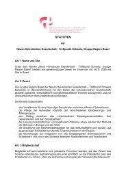 Statuten der Gruppe Region Basel