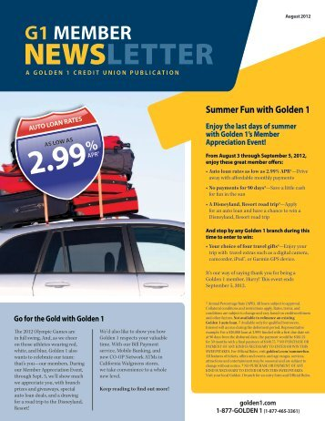G1 MEMBER - The Golden 1 Credit Union