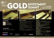 INVESTMENT SUMMIT - Euromoney Institutional Investor PLC