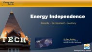 Energy Independence - Georgia Institute of Technology