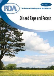 PDA 13 Oilseed Rape and Potash - Potash Development Association