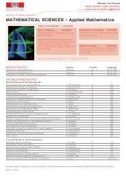 MATHEMATICAL SCIENCES - Applied Mathematics - Master | EPFL