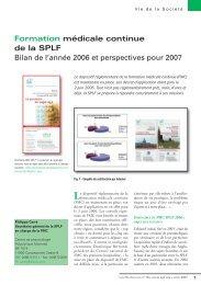 Formation médicale continue de la SPLF Bilan de l'année 2006 et ...