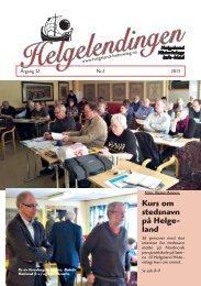 Helgelendingen nr 2 2013 - Helgeland Historielag
