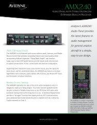 AV852-AMX240 Audio Sell Sheet-FINAL:Layout 1 - Avidyne