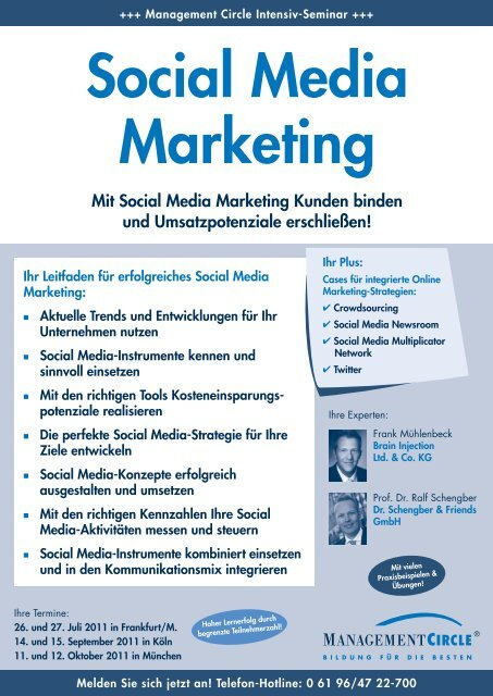 Seminar: Social Media Marketing - Management Circle AG