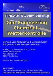 finden Sie den Flyer für die Veranstaltung - Sauberer-Himmel.de