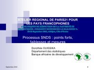 Processus SNDS : points forts, faiblesses et mesures - Paris21