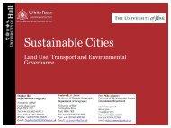 Sustainable Cities - Institute for Transport Studies