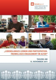 lebenslanges lernen und partizipation. freiwilliges ... - APA
