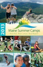 download the 2013 Maine Summer Camps Directory (2.5 MB PDF).