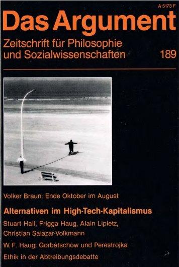 Argument - Berliner Institut für kritische Theorie eV