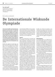 De Internationale Wiskunde Olympiade - Nederlandse Wiskunde ...