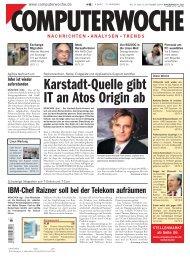 Karstadt-Quelle gibt IT an Atos Origin ab